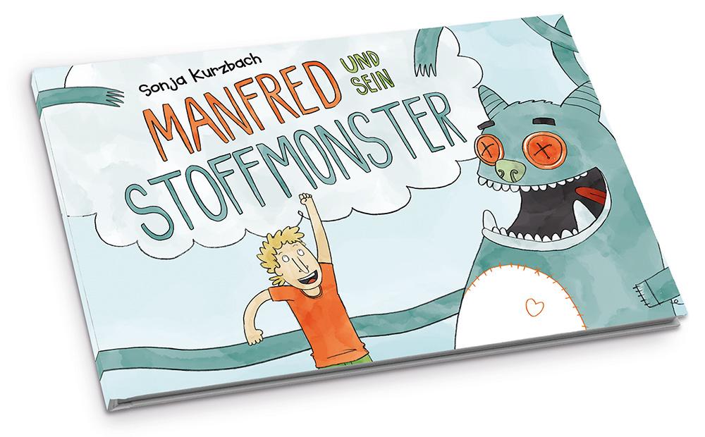 Mein erstes Kinderbuch – mehr Infos auf manfred-und-sein-stoffmonster.de
