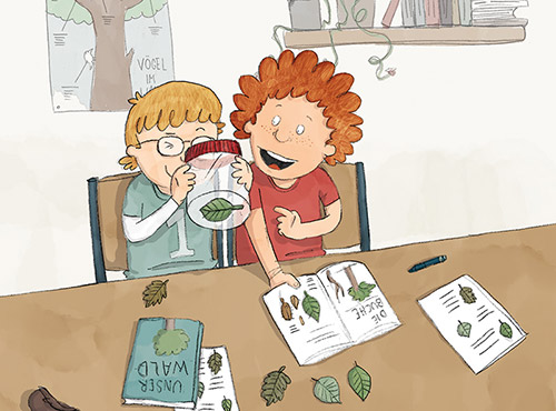 Illustration für ein Schulbuch // Illustration for a school book.  © Mildenberger Verlag