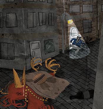 Study illustration of a short story 3/6