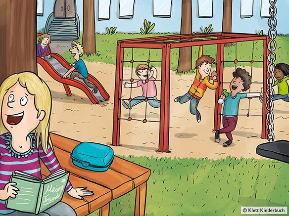 """Illustration für """"Fünf Gramm Glück"""", erschienen bei Klett Kinderbuch."""