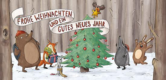 Weihnachtskarte für den Mildenberger Verlag.