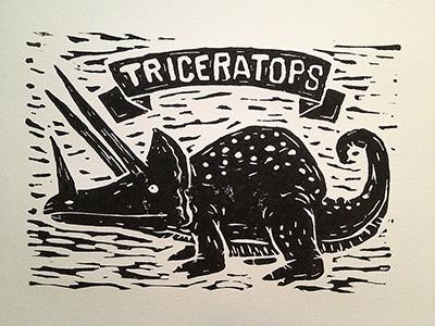 Triceratops – Linoprint