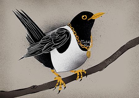 Urban Birds – Ol' Dirty Blackbird